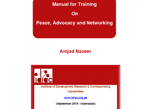 Training Manual on Peace, Advocacy and Networking